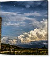 Silo Before The Storm. Canvas Print