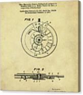 Rolex Watch Patent 1999 In Sepia Canvas Print