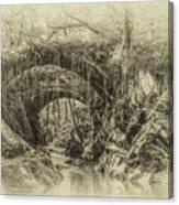Roman Bridge , Penmachno  Canvas Print