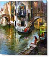 Romance In Venice Canvas Print