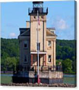 Rondout Lighthouse On The Hudson River New York Canvas Print