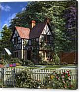 Roses House Canvas Print