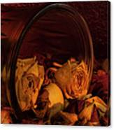 Roses Spilling Out Of Vase Canvas Print