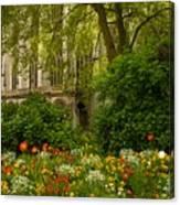 Rouen Abbey Garden Canvas Print