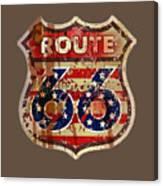 Route 66 T-shirt Canvas Print