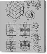 rubik's cube Patent 1983 Canvas Print
