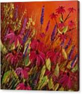 Rudbeckias And Lyatris Canvas Print