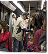 Rush Hour On Paris Metro Canvas Print