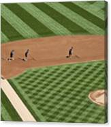 Safeco Field Abstract Patterns With Ground Crew Canvas Print