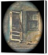 Sagging Door Lordsburg New Mexico 1968-2012 Canvas Print