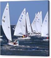 Sailboat Championship Racing Canvas Print