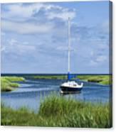 Sailboat Salt Marsh Canvas Print