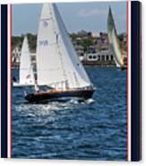 Sailing Newport Canvas Print