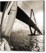 Sailing On The Charleston Harbor Beneteau Sailboat Canvas Print