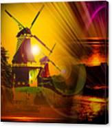 Sailing Romance Windmills Canvas Print
