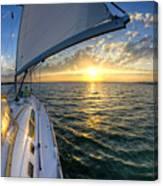 Sailing Sunset Charleston Sc Beneteau 49 Canvas Print