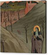 Saint Anthony The Abbot In The Wilderness Canvas Print