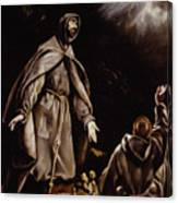 Saint Francis In Ecstasy Canvas Print