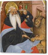 Saint Jerome Extracting A Thorn From A Lion's Paw Canvas Print