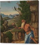 Saint Jerome In A Landscape Canvas Print