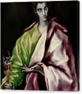 Saint John The Evangelist Canvas Print
