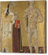 Saints Fabian And Sebastian Canvas Print