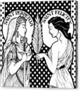 Saints Perpetua And Felicity Canvas Print