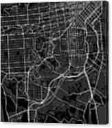 San Francisco California Usa Dark Map Canvas Print