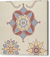 "San Juan Capistrano Mission Ceiling Decoration From The Portfolio ""decorative Art Of Spanish California"" Canvas Print"
