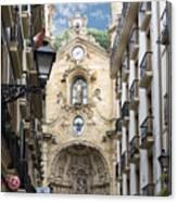 Basilica Of Saint Mary Of The Chorus - San Sebastian - Spain Canvas Print