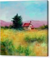 San Simeon School House Canvas Print