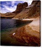 Sandstone Shoreline And Cliffs Lake Powell Canvas Print
