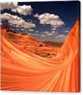 Sandstone Wave Curl Canvas Print