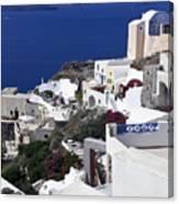 Santorini Overview Canvas Print