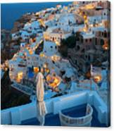 Santorini Skyline Canvas Print