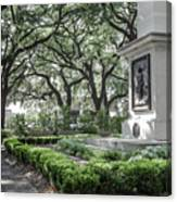 Historic Wright Square - Downtown Savannah Georgia Canvas Print
