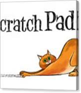Scratchy Cat Canvas Print