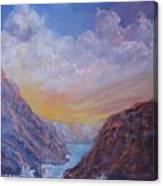 Sea Coast Sunset Canvas Print