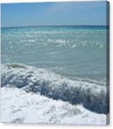 Sea Waves In Italy Canvas Print