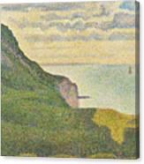 Seascape At Port-en-bessin Normandy Canvas Print
