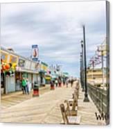 Seaside Boardwalk Canvas Print