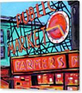 Seattle Public Market Canvas Print