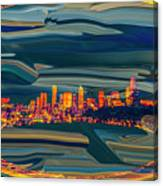 Seattle Swirl Canvas Print