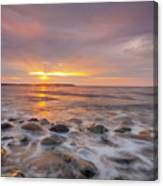 Seawall Sunrise Canvas Print