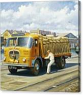 Seddon At Poole Docks. Canvas Print