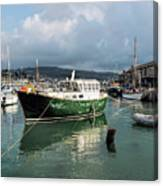 September Morning - Lyme Regis Harbour Canvas Print