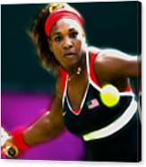 Serena Williams Eye On The Prize Canvas Print