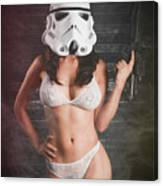 Sexy Trooper Canvas Print