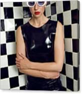 Sexy Woman In Latex Bath Canvas Print