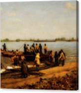 Shad Fishing On The Delaware River Canvas Print